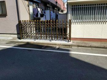 東京都練馬区旭町リフォーム伸縮門扉交換、土間工事の記事画像