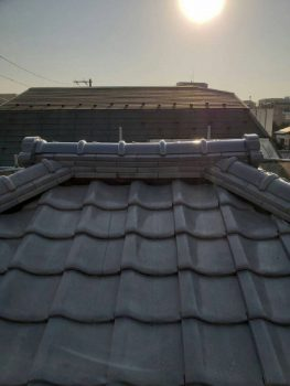 東京都練馬区旭町瓦屋根棟積み替え工事の記事画像